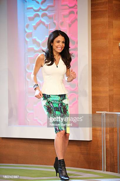 Bethenny with Gilles Marini do's don't's of texting with Steve Santagati Manscaping at CBS Broadcast Center on September 10 2013 in New York City Air...