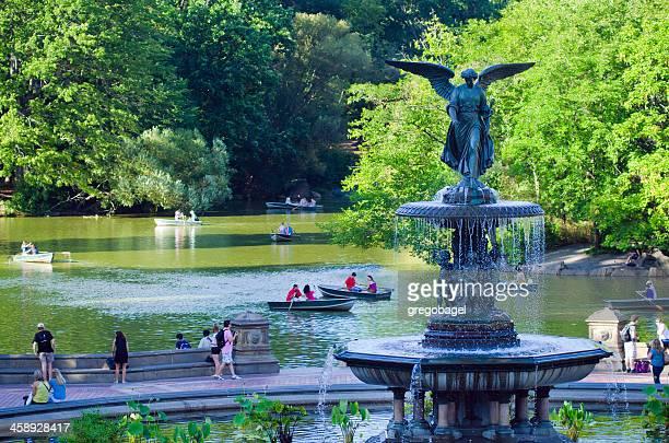 ベセスダ噴水、ニューヨークのセントラルパークシティー - ニューヨーク郡 ストックフォトと画像