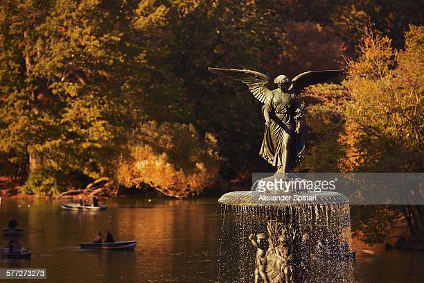 Bethesda fountain in Central Park, New York, USA