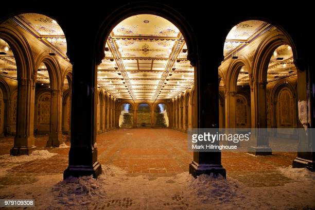 bethesda terrace interior - gothic style stock pictures, royalty-free photos & images