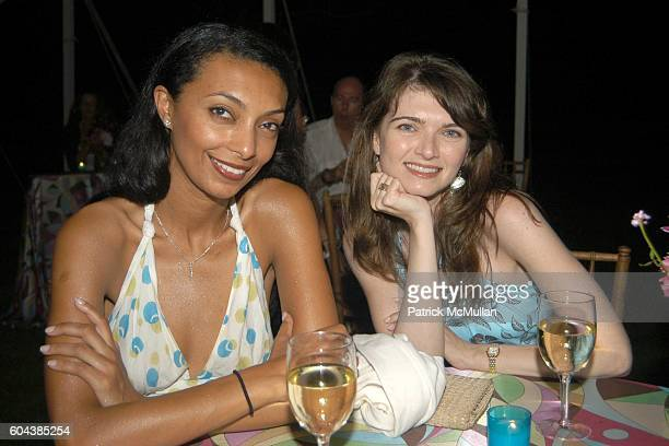 Bethlam Forsa and Meredith Stone attend Cocktail Party With Steven Schonfeld Celebrating Mindy Greenblatt's Birthday at Watermill on August 19 2006