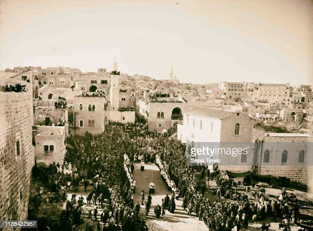 Bethlehem and surroundings Christmas day American Colony, Jerusalem. 1898, West Bank, Bethlehem, Israel