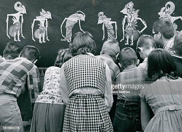 JAN 17 1964 JAN 20 1964 Bethlehem Lutheran Church How Did They Ever Make That Students from Bethlehem Lutheran School seem fascinated by this puppet...
