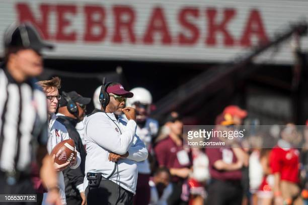 Bethune Cookman Wildcats head coach Terry Sims watches the run of play during the game between the BethuneCookman Wildcats and the Nebraska...