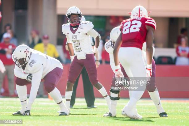 Bethune Cookman Wildcats quarterback David Israel scans the defense prior to the snap during the game between the BethuneCookman Wildcats and the...