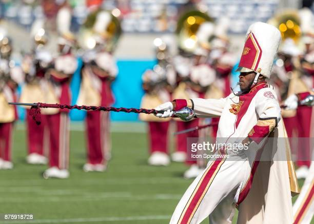 Bethune_Cookman Band during the football game between the Florida AM and BethuneCookman on November 18 2017 at Camping World Stadium in Orlando FL