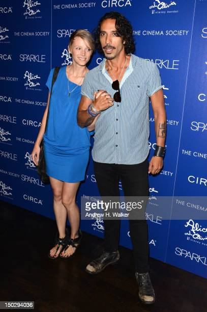 Betina Holte and Carlos Leon attend The Cinema Society with Circa and Alice Olivia screening of Sparkle at Tribeca Grand Hotel on August 14 2012 in...