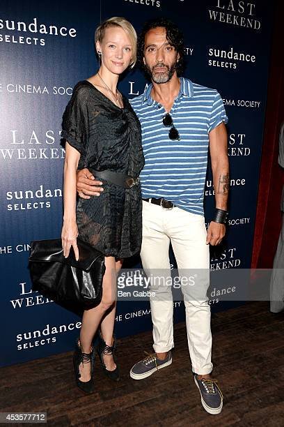 Betina Holte and personal trainer Carlos Leon attend the Sundance Selects The Cinema Society special screening of Last Weekend at Tribeca Grand Hotel...