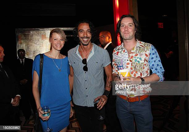 Betina Holte Carlos Leon and Rufus Wainwright attend The Cinema Society with Circa and Alice Olivia screening of Sparkle at Tribeca Grand Hotel on...