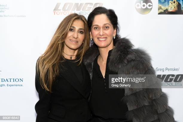 Betina Javaheri and Elizabeth Mossanen of Looking Beyond attend the United Cerebral Palsy Of Los Angeles' Art Of Care Gala Arrivals at Petersen...