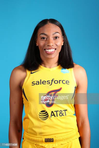 Betnijah Laney of the Indiana Fever poses for a head shot during WNBA media day at Bankers Life Fieldhouse on May 20, 2019 in Indianapolis, Indiana....