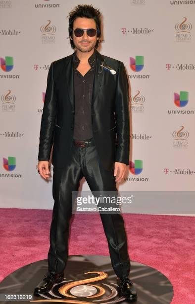 Beto Cuevas arrives at the 25th Anniversary Of Univision's Premio Lo Nuestro A La Musica Latina on February 21 2013 in Miami Florida