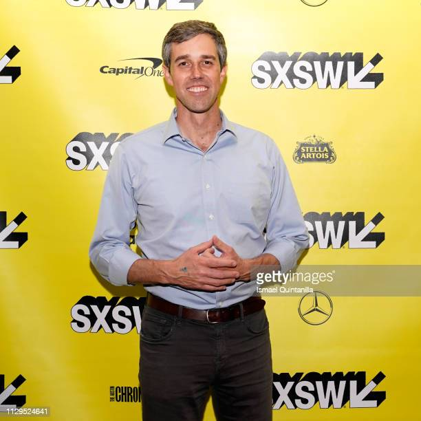Beto O'Rourke attends The River and the Wall Premiere during the 2019 SXSW Conference and Festivals at JW Marriott Austin on March 9 2019 in Austin...