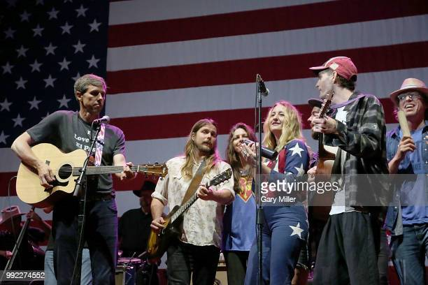 Beto O'Rourke Lukas Nelson Amy Nelson and Margo Price perform in concert at Willie Nelson's 45th 4th Of July Picnic at the Austin360 Amphitheater on...