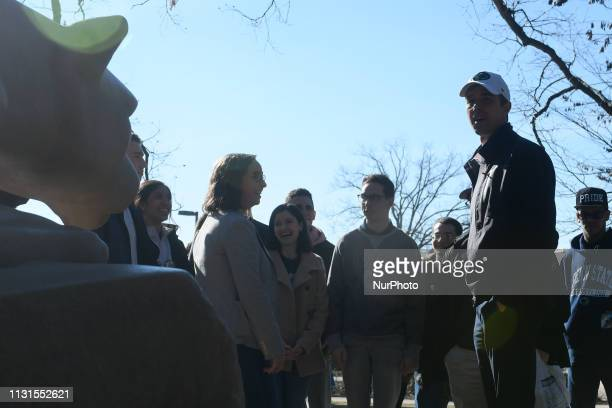 Beto ORourke makes a campaign stop in State College PA on March 19 2019 The candidate from El Paso TX is the first Democratic candidate to campaign...