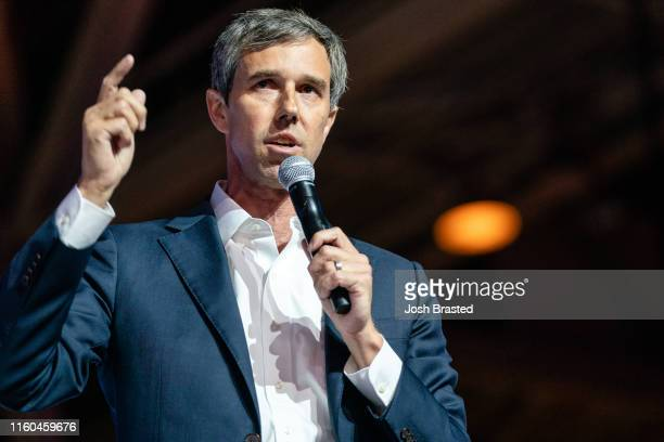 Beto O'Rourke speaks at the 25th Essence Festival at Ernest N Morial Convention Center on July 06 2019 in New Orleans Louisiana