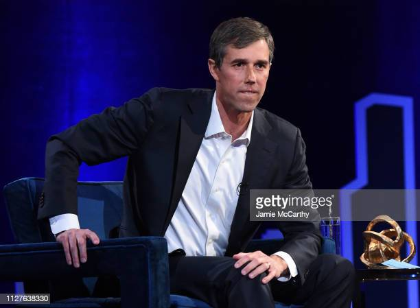 Beto O'Rourke speaks onstage at Oprah's SuperSoul Conversations at PlayStation Theater on February 05 2019 in New York City