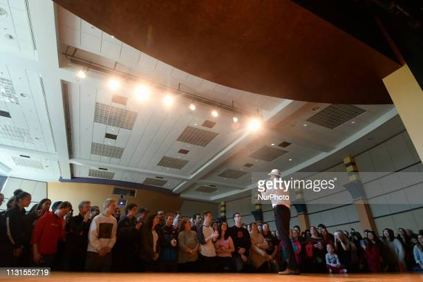Beto ORourke takes the stage as he makes a campaign stop in State College PA on March 19 2019 The candidate from El Paso TX is the first Democratic...