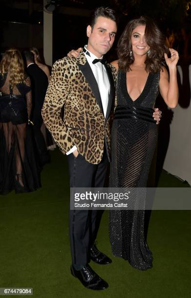 Beto Pacheco and Juliana Paes attend the 7th Annual amfAR Inspiration Gala on April 27 2017 in Sao Paulo Brazil