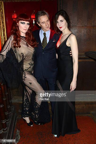 Betony Vernon Aramy Machry and Suzanne von Aichinger attend the 'Betony Vernon La Bible du Boudoir Party' At The Raspoutine Club on November 8 2013...