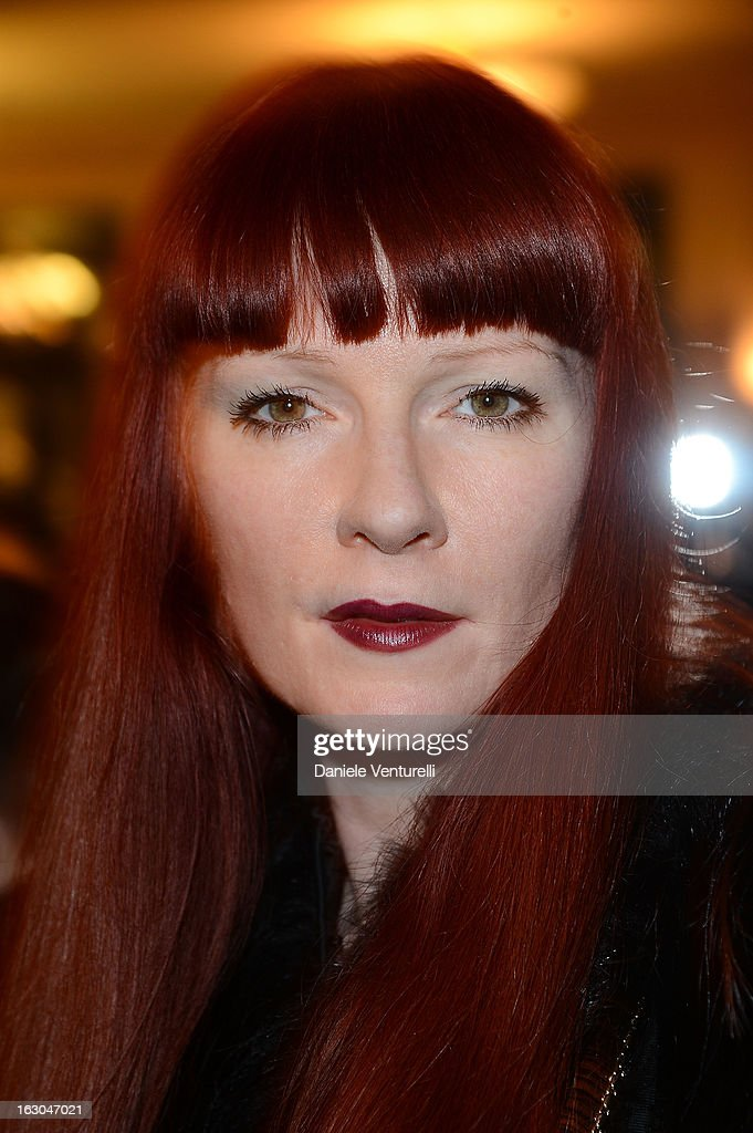 Betony Vernon attends the Bulgari And Purple Magazine Party at Cafe de Flore on March 3, 2013 in Paris, France.
