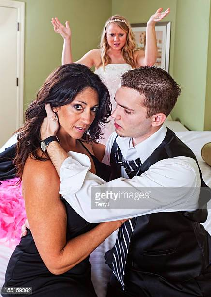 betrayal - cougar woman stock photos and pictures
