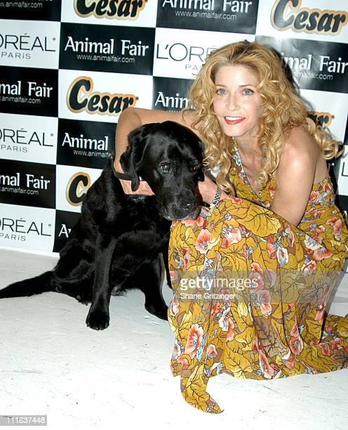 Betsey and Candace Bushnell during Animal Fair Magazine's 6th Annual PAWS FOR STYLE Benefit for the Humane Society Of New York at EXIT in New York...