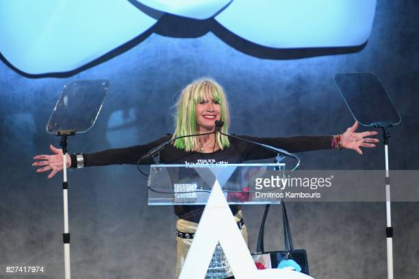 Betsey Johnson accepts the Style Icon Award onstage at the Accessories Council's 21st Annual celebration of the ACE awards at Cipriani 42nd Street on...