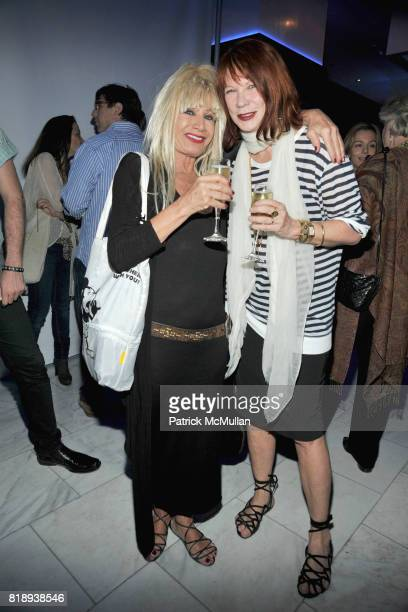 Betsey Johnson and Chantal Bacon attend PATTI SMITH Live in Concert A Benefit for The American Folk Art Museum at Espace on May 15 2010 in New York...