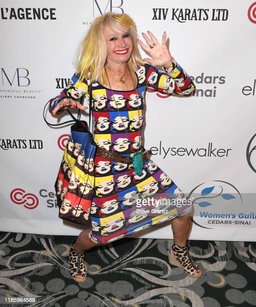 Betsey Johnson arrives at the Women's Guild CedarsSinai Annual Luncheon at Regent Beverly Wilshire Hotel on November 06 2019 in Beverly Hills...