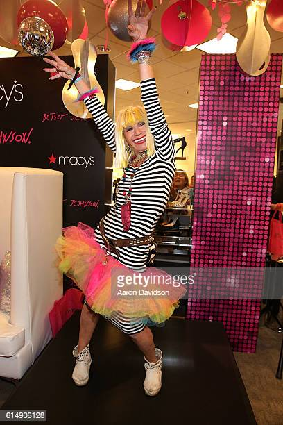 Betsey Johnson attends a meet and greet at Macy's Dadeland Mall on October 15 2016 in Miami Florida