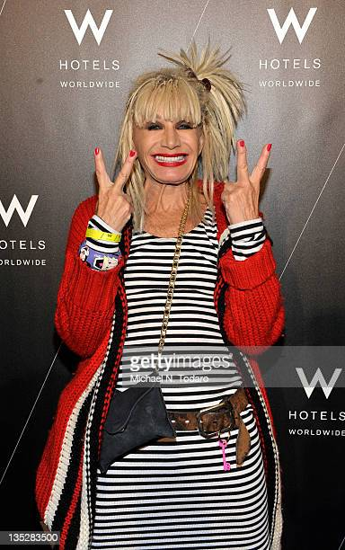 Betsey Johnson attends Rocked An Exclusive Photography Exhibition by Mick Rock at the W New York Downtown on December 7 2011 in New York City
