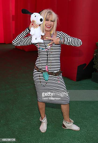 Betsey Johnson attends the premiere of 20th Century Fox's The Peanuts Movie at Regency Village Theatre on November 1 2015 in Westwood California