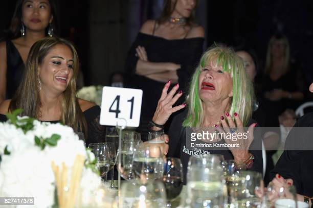 Betsey Johnson prepares to accept the Style Icon Award at the Accessories Council's 21st Annual celebration of the ACE awards at Cipriani 42nd Street...
