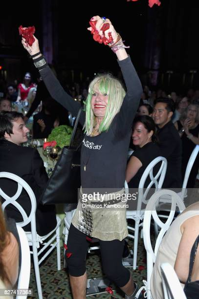 Betsey Johnson walks to the stage to accept the Style Icon Award at the Accessories Council's 21st Annual celebration of the ACE awards at Cipriani...