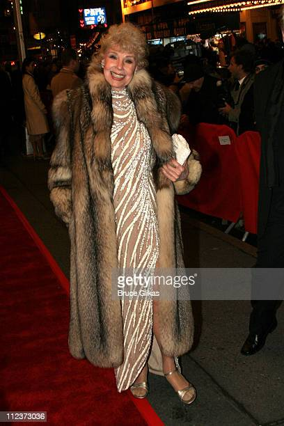 Betsey Palmer during 'Chita Rivera The Dancer's Life' Broadway Opening Night Arrivals at The Gerald Schoenfeld Theatre in New York City New York...