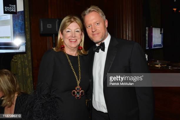 Betsey Ruprecht and David Svanda attend New York School Of Interior Design Annual Gala at The University Club on March 5 2019 in New York City