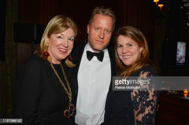 Betsey Ruprecht David Svanda and Ellen Niven attend New York School Of Interior Design Annual Gala at The University Club on March 5 2019 in New York...