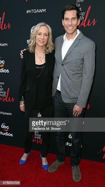 Betsy Beers and Pete Norwalk attend the screening of 'How To Get Away With Murder' ATAS Event at the Sunset Gower Studios on May 28 2015 in Hollywood...