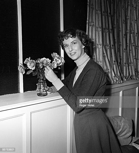 Betsy Blair American actress during the shooting of Meet in Paris of Georges Lampin On 1955 ADR304005