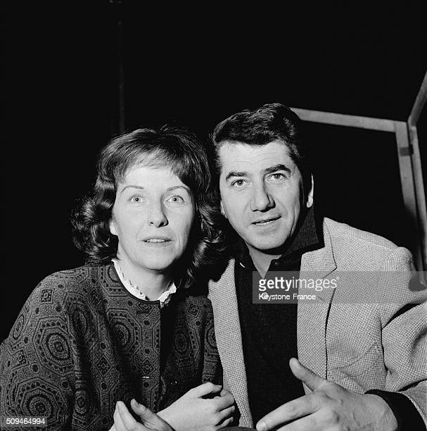 Betsy Blair And Daniel Gelin During The Rehearsal Of the Play 'Tchin Tchin' By François Billetdoux At the Théâtre Moderne in Paris France on January...