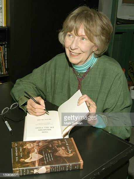 Betsy Blair during Betsy Blair Signs Her New Book The Memory Of All That at Book Soup in West Hollywood California United States