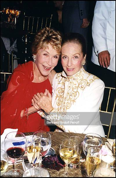 Betsy Bloomingdale and Doris Brynner at Bernard Arnault Receives The Benjamin Franklin Prize In New York