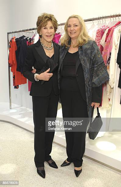 Betsy Bloomingdale and Justine Bloomingdale attend Diane Von Furstenberg and Elle's Celebration of International Women's Month on March 23 2009 in...