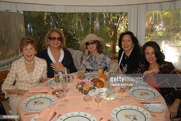 Betsy Bloomingdale Ira von Furstenberg Joan Collins Jolene Schlatter and Nikki Haskel attend Perrier Jouet Champagne Luncheon at Hotel BelAir on...