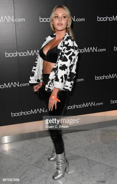 Betsy Blue English attends the boohooMAN by Dele Alli VIP launch at ME London on May 10 2018 in London England