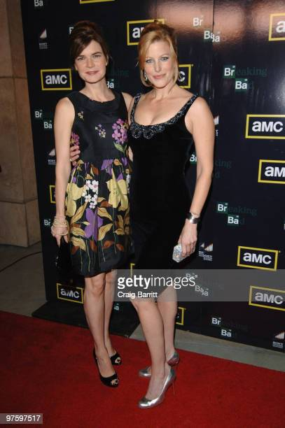 Betsy Brandt and Anna Gunn arrives at the'Breaking Bad' Season Three Premiereat ArcLight Cinemas on March 9 2010 in Hollywood California