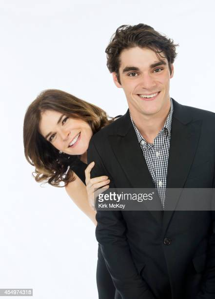Betsy Brandt and RJ Mitte are photographed for Los Angeles Times on August 25, 2014 in Los Angeles, California. PUBLISHED IMAGE. CREDIT MUST BE: Kirk...