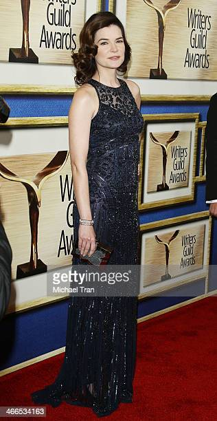 Betsy Brandt arrives at the 2014 Writers Guild Awards LA Ceremony held at JW Marriott Los Angeles at LA LIVE on February 1 2014 in Los Angeles...