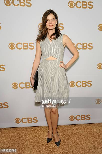 Betsy Brandt attends the 2015 CBS Upfront at The Tent at Lincoln Center on May 13 2015 in New York City